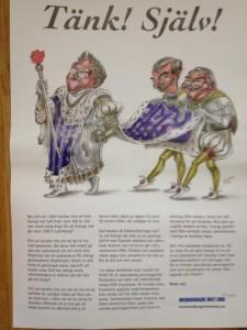 Kampanjaffisch från Medborgare mot EMU som användes vid universitetskampanjer.